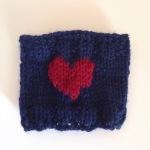 navy heart sleeve